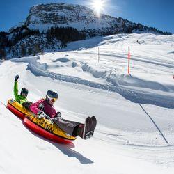 Snowtubing Blick Gerloswand ©Johannes Sautner (Zillertal Arena)