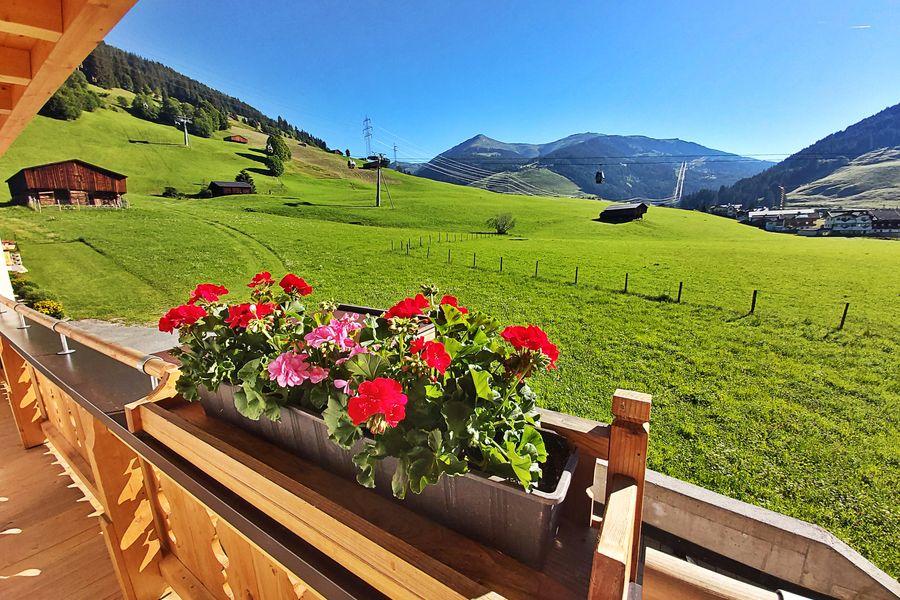 Panorama auf die Zillertaler Alpen ©Haus am Brunnen