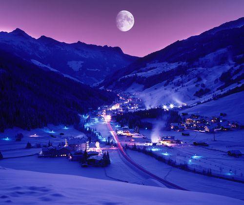Gerlos Dämmerung Winter ©TVB Zell-Gerlos (Zillertal Arena)